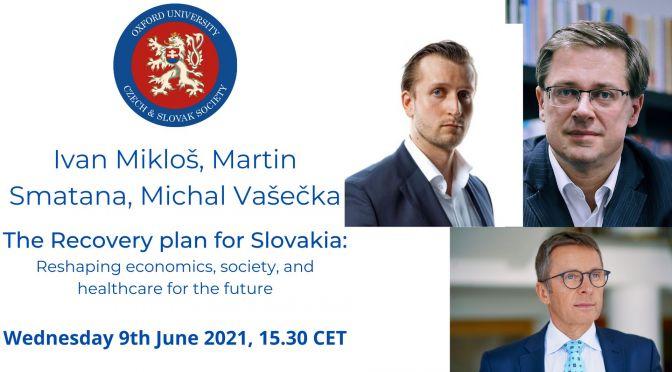 Ivan Miklos, Martin Smatana, Michal Vasecka: The recovery plan for Slovakia